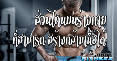 ส่วนไหนบนร่างกายที่สามารถสร้างกล้ามเนื้อได้