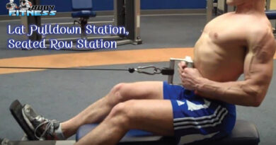 Lat Pulldown Station Seated Row Station